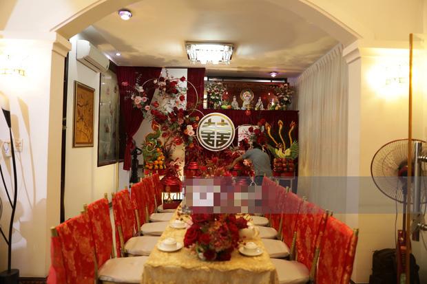 Biệt thự nhà Ông Cao Thắng đỏ rực và lộng lẫy theo phong cách người Hoa trong ngày ăn hỏi - Ảnh 7.