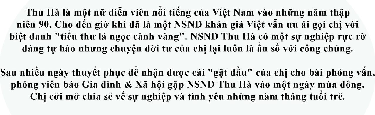 NSND Thu Hà lần đầu hé lộ về mối quan hệ với đạo diễn Trần Lực - Ảnh 1.