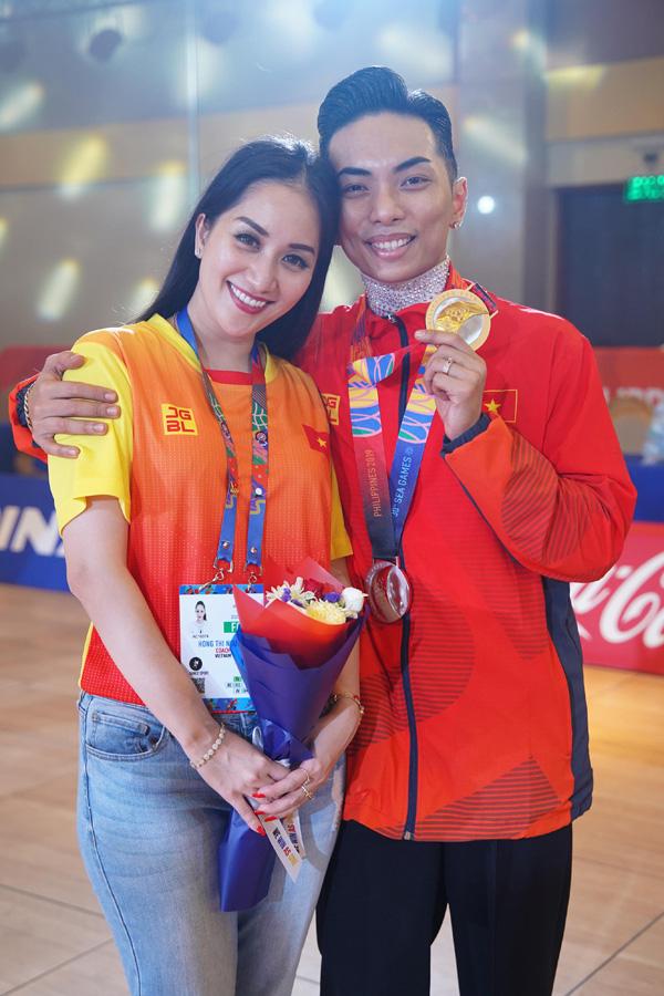 Chồng trẻ giành Huy chương Vàng Sea Games, Khánh Thi khóc nức nở vì quá hạnh phúc - Ảnh 5.