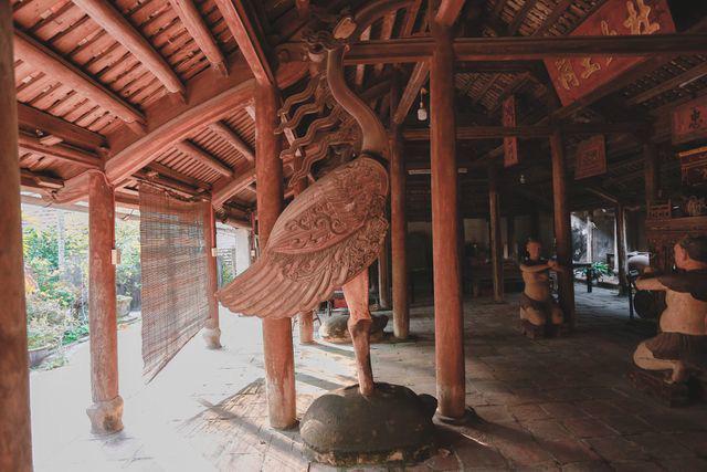 Độc nhất Hà Nội: Nhà cổ 300 tuổi làm từ gỗ lim nằm giữa vườn xanh mát mắt  - Ảnh 9.