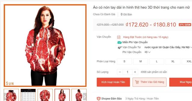 Sốt xình xịch áo in hình thịt lợn: Nhiều bạn trẻ lật tung các cửa hàng tìm mua - Ảnh 3.