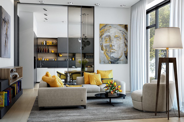 Những mẫu phòng khách gia đình khiến bạn chỉ muốn rinh ngay về đặt vào nhà mình - Ảnh 2.