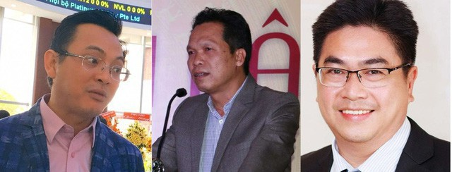 Từ trái qua: ông Nguyễn Ảnh Nhượng Tống, Đỗ Quý Hải và Bùi Xuân Huy