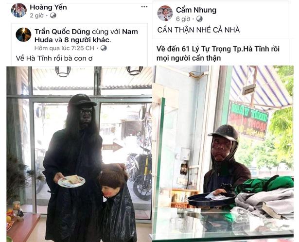 Thực hư thông tin xuất hiện người ăn xin mặt đen ở Hà Tĩnh - Ảnh 1.