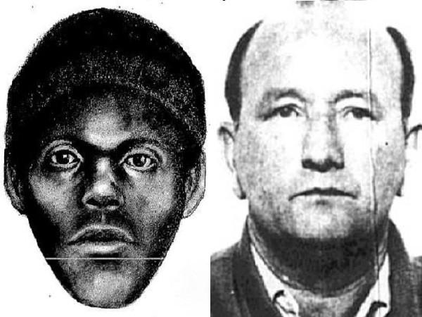 Nạn nhân đầu tiên của The Doodler và chân dung phác thảo tên sát nhân hàng loạt này vào năm 1974