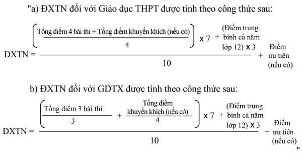 Dự kiến cách tính điểm tốt nghiệp THPT và GDTX năm 2019.