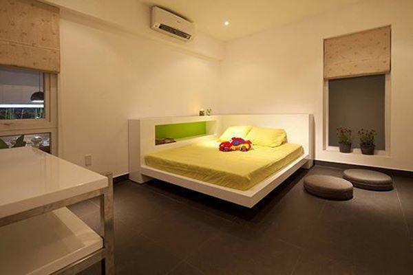 Phòng ngủ ấm cúng kiêu sa.