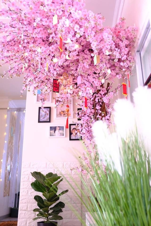 Một góc nhà đẹp mắt, ấn tượng nhất trong nhà của ca sĩ Nam Cường vào dịp Tết vừa qua.