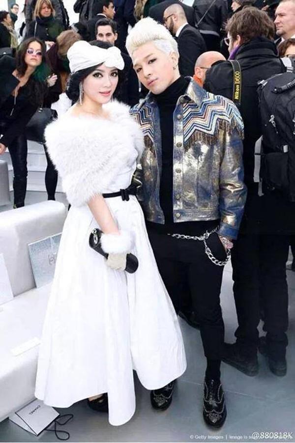 Lý Nhã Kỳ và ca sĩ nổi tiếng Hàn Quốc Taeyang.