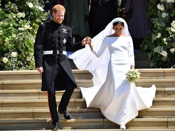 Hoàng tử Harry hạnh phúc khi cưới Meghan Markle.