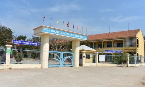 Trường THCS Long Hòa, tỉnh An Giang. ảnh: TL