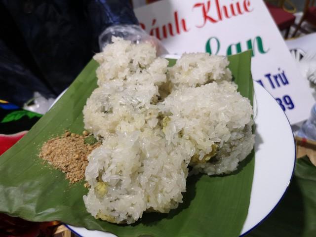 Xôi - một trong 9 món ăn đặc biệt có mặt tại nhà ăn của Trung tâm báo chí quốc tế.