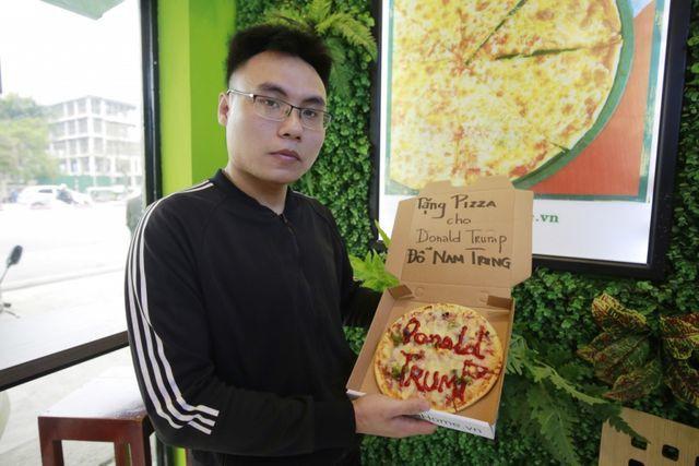 Khách hàng được tặng pizza miễn phí vì có tên Đỗ Nam Trung, đọc gần giống tên Tổng thống Mỹ Donald Trump.