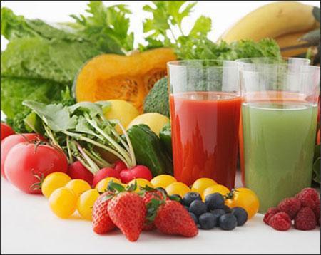 Rau xanh, hoa quả rất tốt để giảm cân, đẹp da sau Tết. Ảnh minh họa.