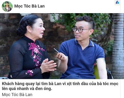 Ni cô Huyền Trang than trời vì hình ảnh bị dùng quảng cáo thuốc trị hói đầu