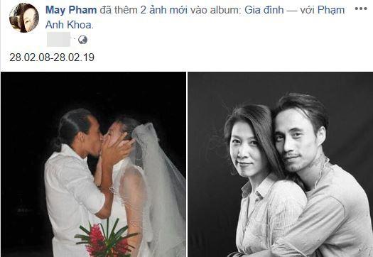 Vợ Phạm Anh Khoa kỷ niệm 11 năm ngày cưới.