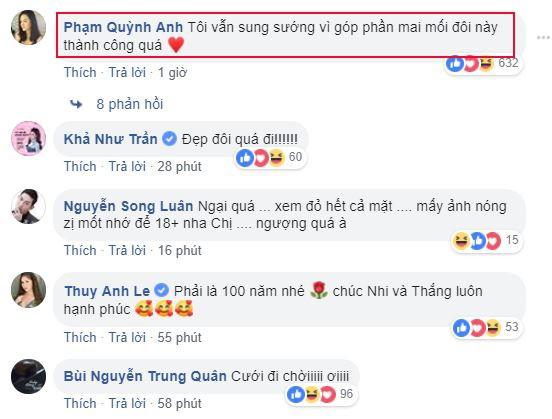 Rất nhiều anh chị em nghệ sĩ gửi lời chúc mừng cặp đôi vàng của showbiz Việt
