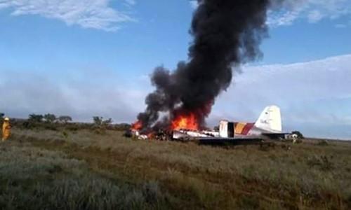 Máy bay rơi khiến toàn bộ phi hành đoàn thiệt mạng, theo xác nhận của cơ quan hàng không dân dụng Colombia ngày 9/3. Ảnh: Camioneros de Colombia.