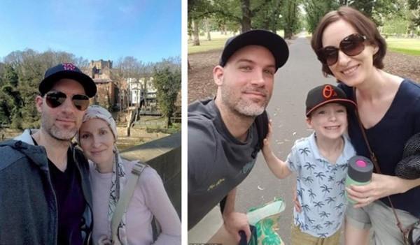 Cô Louise Moreton cùng chồng và con trai.