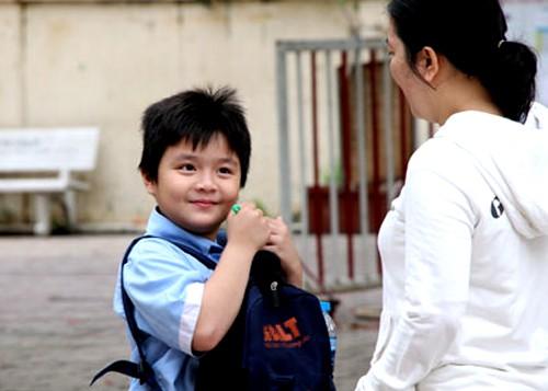 Thí sinh tham gia làm khảo sát vào lớp 6 trường THPT chuyên Trần Đại Nghĩa năm 2018. Ảnh: Mạnh Tùng.