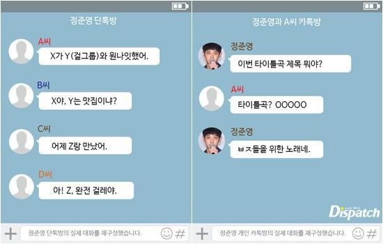 Đoạn tin nhắn trao đổi về việc quay lén clip sex giữa Jung Joon Young và các nhân vật khác trong clip tình dục liên quan đến Seungri