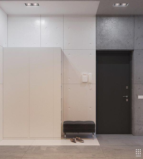 Các mảng màu đối lập cùng thiết kế đơn giản mà tinh tế tạo điểm nhấn cho ngôi nhà.