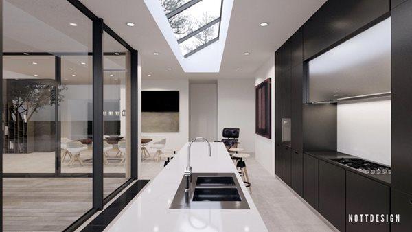 Thiết kế bếp sang trọng thường xuyên đón ánh sáng tự nhiên, tạo bầu không khí ấm áp cho cả căn bếp.