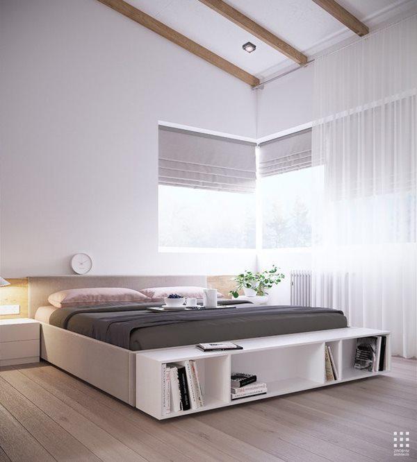 Cây xanh là thành phần không thể thiếu trong mọi căn phòng, kể cả phòng ngủ.