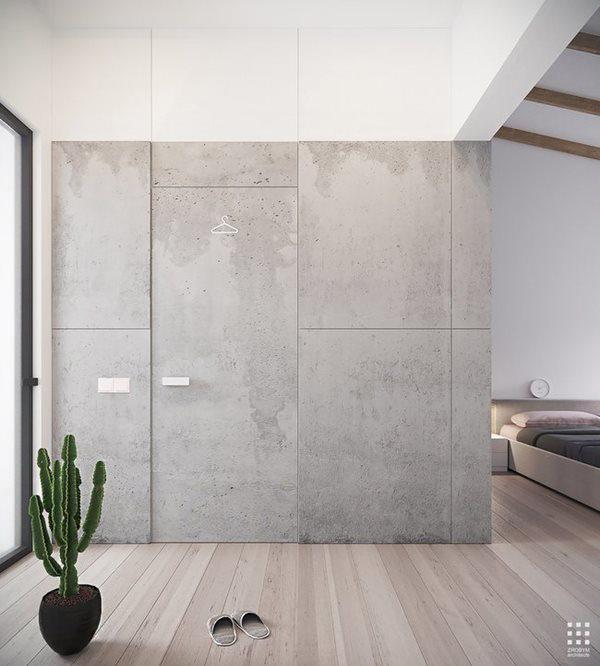 Khác với các không gian khác với thiết kế bê tông chủ đạo, phòng tắm chủ yếu sử dụng các thiết kế làm từ gỗ.
