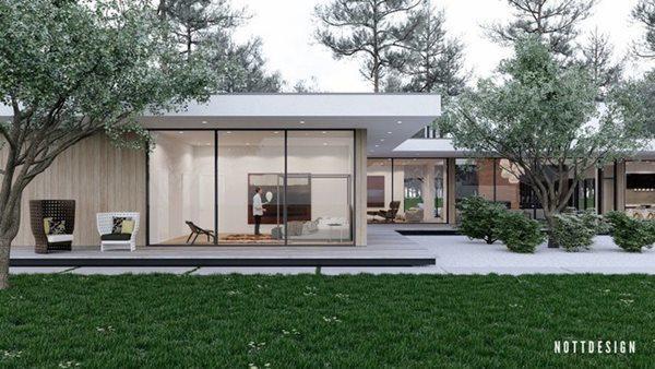 Từ mọi góc trong căn nhà đều có thể ngắm khung cảnh bên ngoài.