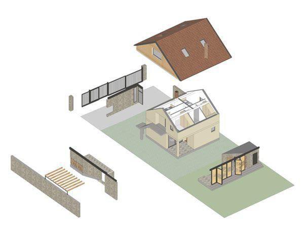 Sau khi cân nhắc, các kiến trúc sư đã đi đến quyết định cơi nới thêm 3 phía của ngôi nhà, lợp thêm mái, đồng thời sắp xếp, bố trí lại cảnh quan, lối vào cũng như sân sau của nó.