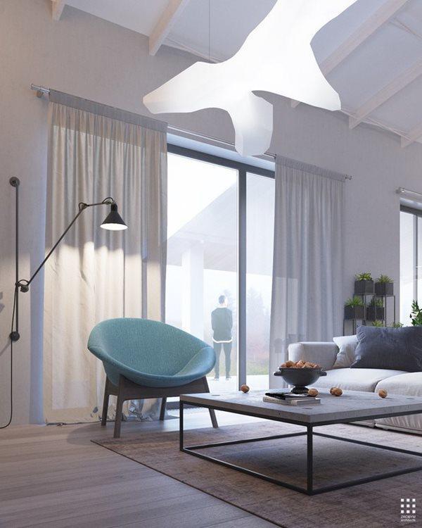 Đèn tường có thể di chuyển, vừa có thể sử dụng chiếu sáng cho căn phòng vừa có thể trang trí phù hợp với một số chi tiết khi cần.