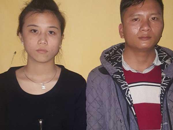 Trần Thị Duyên và Đặng Văn Hiền tại cơ quan chức năng - Ảnh: Công an tỉnh Quảng Ninh