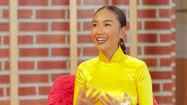 Đoan Trang trẻ trung và tươi tắn khi xuất hiện trên truyền hình.