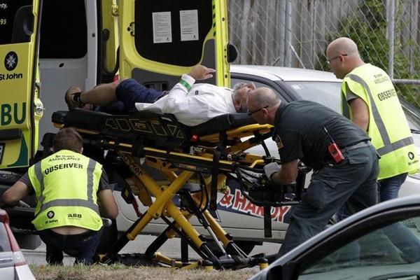 Hiện trường vụ xả súng tại New Zealand khiến hơn 50 người dân vô tội thiệt mạng.