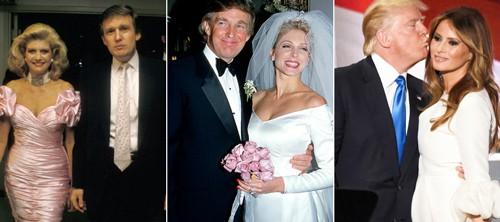 Ba người vợ của Donald Trump đều ký hợp đồng tiền hôn nhân. Ảnh: Celebrity Insider.