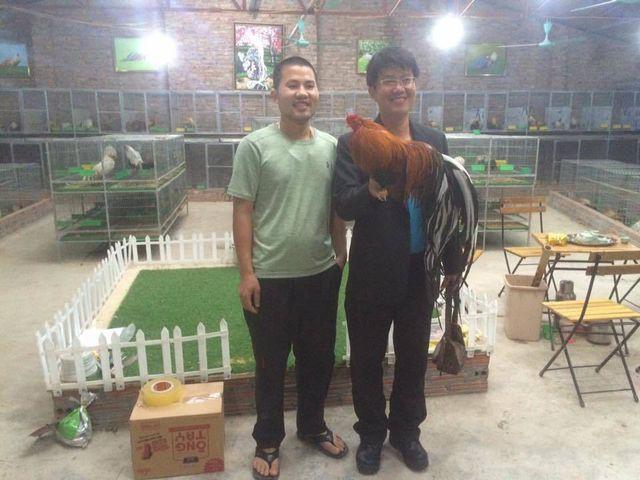 Một vị khách người Đài Loan sang Việt Nam mua gà Tân Châu.