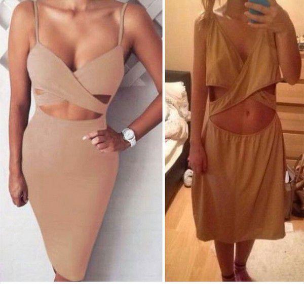 Có vẻ chiếc váy này người mẫu mặc sẽ hợp hơn?