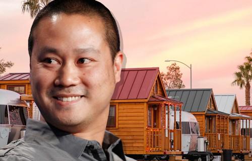 Tony Hsieh tạo ra công viên xe kéo năm 2014. Ảnh: Business Insider.