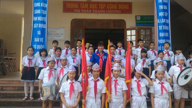 Không chỉ học giỏi, Võ Hà Lam còn là một chỉ huy Đội xuất sắc.