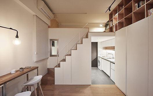 Căn hộ 22m2 ở Đài Loan là một dự án cải tạo từ không gian cũ kỹ trở thành nơi ở mới hiện đại, thẩm mỹ hơn cho gia đình hai thành viên.