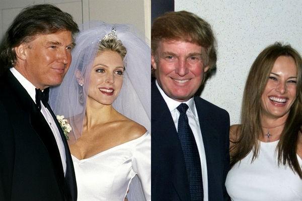 Trong 2 lần kết hôn với Marla Maples (năm 1993) và Melania Trump (năm 2005) ông đều mặc veston bảnh bao, chỉnh tề.