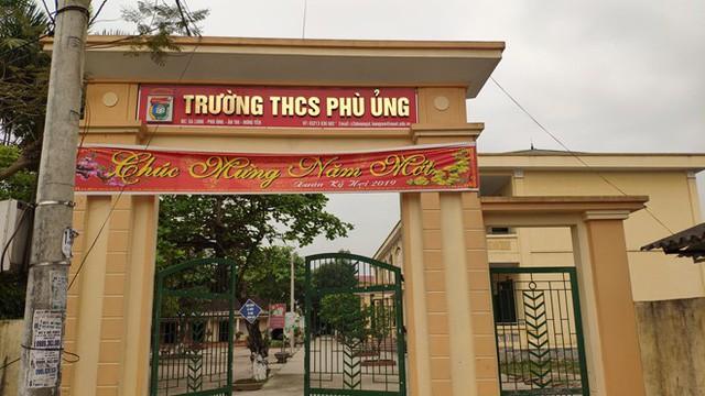 Trường THCS Phù Ủng, nơi xảy ra vụ việc nữ sinh bị đánh. Ảnh: TL
