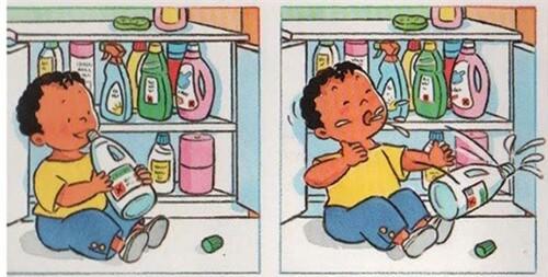 Các chuyên gia khuyến cáo, các loại hóa chất độc hại cần để xa tầm với của trẻ nhỏ. Ảnh minh họa