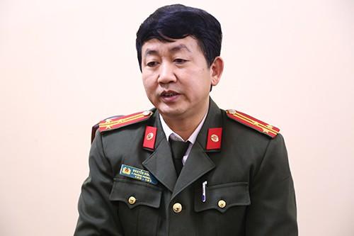 Thượng tá Nguyễn Đình Thi. Ảnh: Phạm Dự.