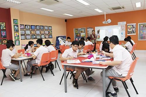 Một buổi học tại trường SIS.