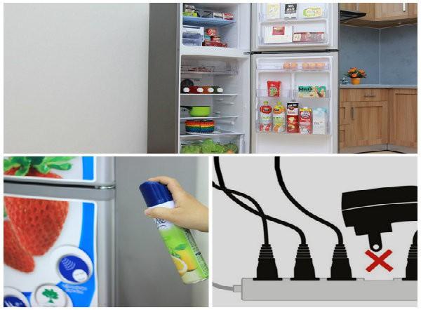 Không nên cắm nhiều ổ cắm vào cùng ổ cắm với tủ lạnh vì dễ gây cháy nổ