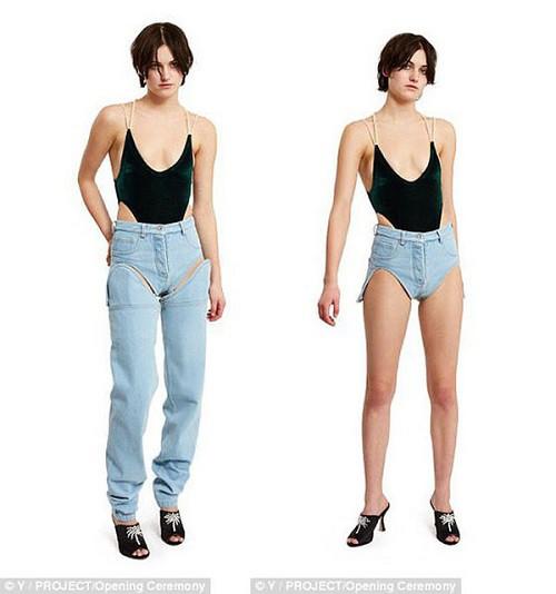 Y Project từng tung ra một mẫu quần jeans tách rời.