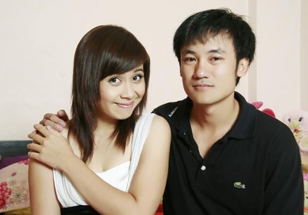 Lưu Thiên Hương và chồng, nhạc sĩ phối khí Sơn Hải kết hôn năm 2004.