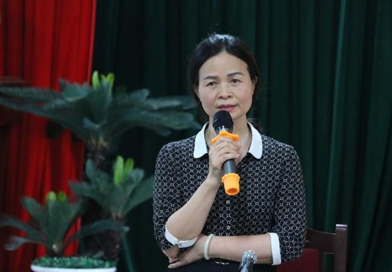 Bà Ngô Thị Thu Anh - Hiệu trưởng trường THCS Trần Phú.